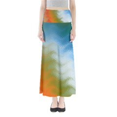 Texture Glass Colors Rainbow Maxi Skirts