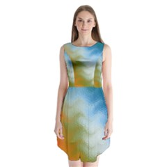 Texture Glass Colors Rainbow Sleeveless Chiffon Dress