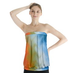 Texture Glass Colors Rainbow Strapless Top