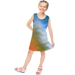 Texture Glass Colors Rainbow Kids  Tunic Dress