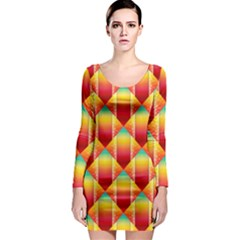 The Colors Of Summer Long Sleeve Bodycon Dress