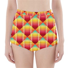 The Colors Of Summer High Waisted Bikini Bottoms