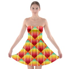 The Colors Of Summer Strapless Bra Top Dress