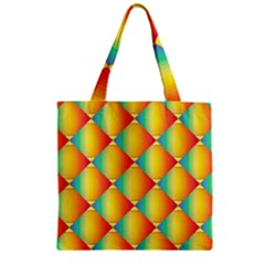 The Colors Of Summer Zipper Grocery Tote Bag