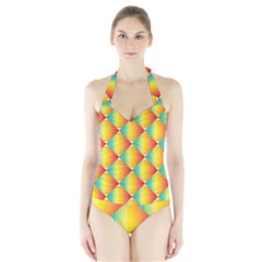 The Colors Of Summer Halter Swimsuit