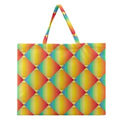 The Colors Of Summer Zipper Large Tote Bag
