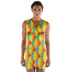 The Colors Of Summer Wrap Front Bodycon Dress