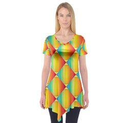 The Colors Of Summer Short Sleeve Tunic
