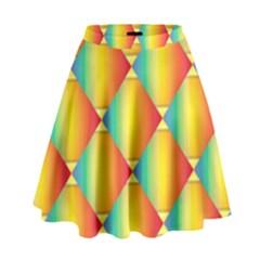 The Colors Of Summer High Waist Skirt