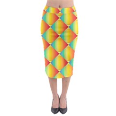 The Colors Of Summer Midi Pencil Skirt