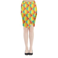 The Colors Of Summer Midi Wrap Pencil Skirt