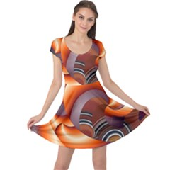 The Touch Digital Art Cap Sleeve Dresses