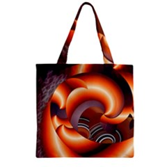 The Touch Digital Art Zipper Grocery Tote Bag
