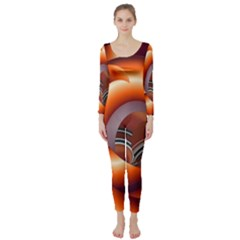 The Touch Digital Art Long Sleeve Catsuit