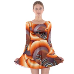 The Touch Digital Art Long Sleeve Skater Dress