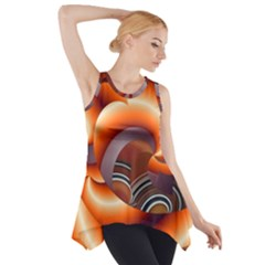 The Touch Digital Art Side Drop Tank Tunic