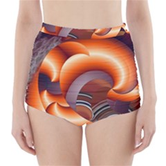 The Touch Digital Art High-Waisted Bikini Bottoms