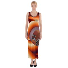 The Touch Digital Art Fitted Maxi Dress