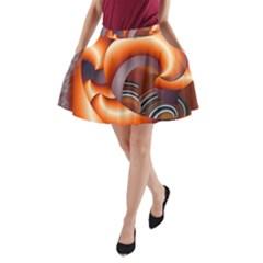 The Touch Digital Art A-Line Pocket Skirt