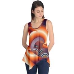 The Touch Digital Art Sleeveless Tunic