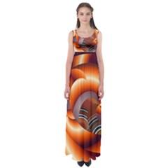 The Touch Digital Art Empire Waist Maxi Dress