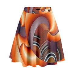The Touch Digital Art High Waist Skirt