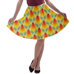The Colors Of Summer A-line Skater Skirt