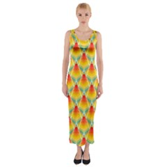 The Colors Of Summer Fitted Maxi Dress