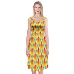 The Colors Of Summer Midi Sleeveless Dress