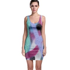 Texture Pattern Abstract Background Sleeveless Bodycon Dress