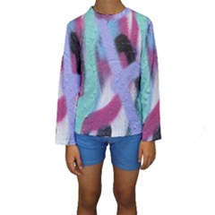 Texture Pattern Abstract Background Kids  Long Sleeve Swimwear