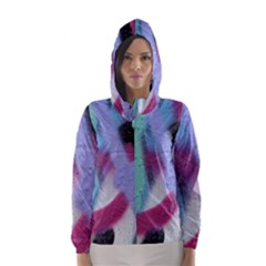 Texture Pattern Abstract Background Hooded Wind Breaker (women)
