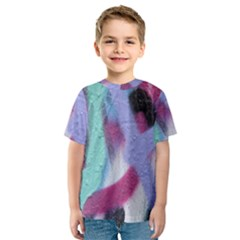 Texture Pattern Abstract Background Kids  Sport Mesh Tee