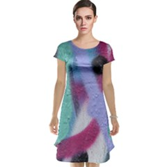 Texture Pattern Abstract Background Cap Sleeve Nightdress