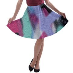 Texture Pattern Abstract Background A-line Skater Skirt