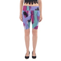 Texture Pattern Abstract Background Yoga Cropped Leggings