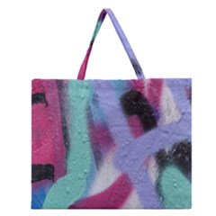 Texture Pattern Abstract Background Zipper Large Tote Bag