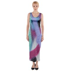Texture Pattern Abstract Background Fitted Maxi Dress