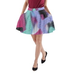 Texture Pattern Abstract Background A-Line Pocket Skirt