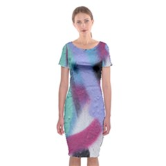 Texture Pattern Abstract Background Classic Short Sleeve Midi Dress
