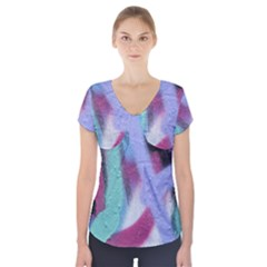 Texture Pattern Abstract Background Short Sleeve Front Detail Top