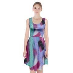 Texture Pattern Abstract Background Racerback Midi Dress