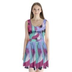 Texture Pattern Abstract Background Split Back Mini Dress