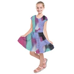 Texture Pattern Abstract Background Kids  Short Sleeve Dress