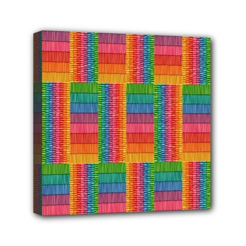 Texture Surface Rainbow Festive Mini Canvas 6  X 6