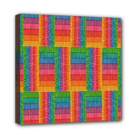 Texture Surface Rainbow Festive Mini Canvas 8  x 8