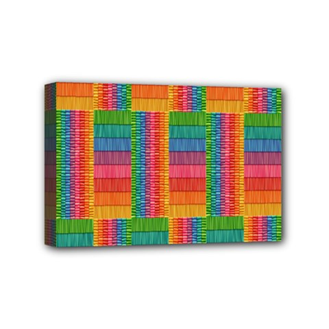 Texture Surface Rainbow Festive Mini Canvas 6  x 4