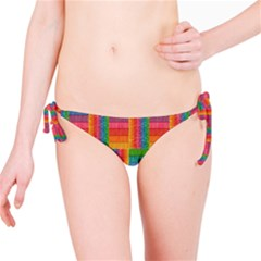 Texture Surface Rainbow Festive Bikini Bottom
