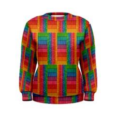 Texture Surface Rainbow Festive Women s Sweatshirt