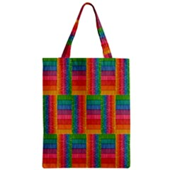 Texture Surface Rainbow Festive Zipper Classic Tote Bag